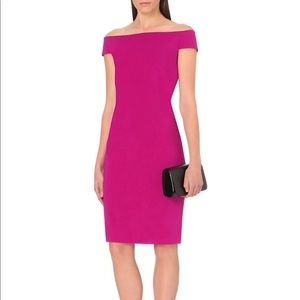 Ted Baker Wiona Off Shoulder Purple Bodycon Dress